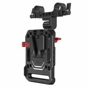 SmallRig V Mount Battery Plate Dual 15mm Rod Clamp with Adjustable Arm 2991