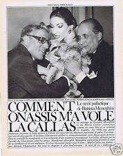 Coupure de presse Clipping 1983 Maria Callas & Aristote Onassis (8 pages)