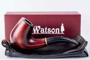 Dr.Watson - Wooden Tobacco Smoking Pipe - CLASSIC - Hand Carved, Fits 9mm filter