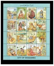 1995- Libya –The City of Ghadames – Labor- Agriculture- Woman- Minisheet MNH**
