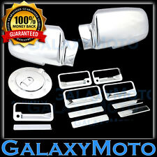92-99 Yukon+99-01 Escalade Chrome Mirror+4 Door Handle+Tailgate+Gas Cover Trim
