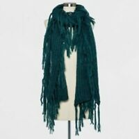 NEW Women's Knit Fringe Scarf - A New Day - Green Marker