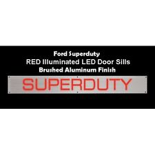 RECON 264121FDRD Aluminum RED Illuminated Door Sill, For Ford 99-15 SUPERDUTY