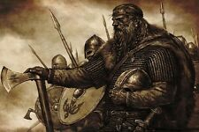 Vikings Medieval Silk Poster 24x36inch