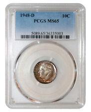 New listing Pcgs Ms65 1948-D 10C Roosevelt Dime Toned