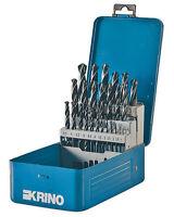 SERIE DI 25 PUNTE HSS per METALLO per TRAPANO 1-13 mm KRINO in scatola 01016406