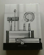 Hotel Collection Stainless Steel Bar Tool Caddy Set - NEW open box