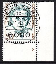 32) Berlin 50 Pf Frauen 770 FN 3 Formnummer Ecke 4 EST FFM mit Gummi RAR!