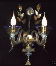applique di Murano Originale 2L blu/oro in su'