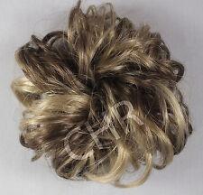"Ponytail Extension 3"" Scrunchie Synthetic Hair Wrap 18/22 Lt Ash Brown Blond Mix"