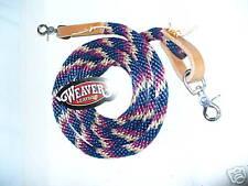 Weaver poly roper barrel Braided rope reins 8 Feet New navy tan burgundy