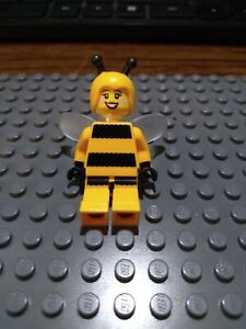 Figure Hair NEW LEGO Female Bumblebee Buns two Parted in middle Black x1
