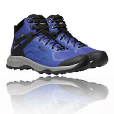 Keen Mens Explore Mid Waterproof Walking Boots Blue Sports Outdoors Breathable