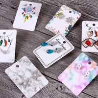 100pcs Cute Paper Earring Necklace Brooch Display Tags Jewelry DIY Hanging Cards