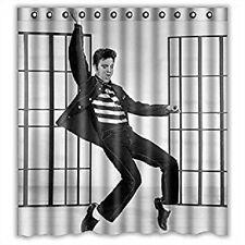 Elvis Presley JAIL HOUSE ROCK Dancing Bathroom Shower Curtain 12 Rings NEW