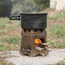 LIXADA OUTDOOR CAMPING COOKING FOLDING WOOD STOVE POCKET ALCOHOL STOVE E6C6
