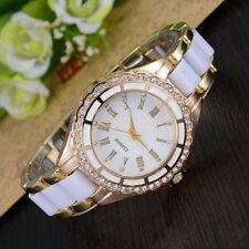 Fashion Elegant Women's Quartz Watch Roman Numerals Analog Rhinestone Alloy Case