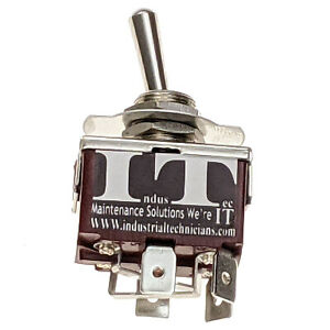 IndusTec 20 A Motor Polarity Reversing Maintained Toggle Switch W Jumpers 3 pos