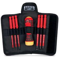 Bahco RATCHET SCREWDRIVER SET 7Pcs 1000V Interchangeable Blades, Nylon Pouch
