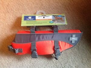 Top Paw Dog Life Jacket. Orange Reflective Size  Medium 30-55 Pounds