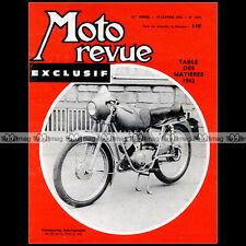 MOTO REVUE N°1625 GIULIETTA SUZUKI CARENAGE DKW Z 500 PUCH AUGUSTUSBURG 1963
