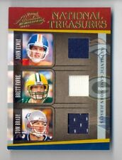 TOM BRADY BRETT FAVRE ELWAY 2005 NATIONAL TREASURES PRIME TRIPLE JERSEY #49/50