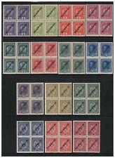 Österreich Nr 228-241 Freimarken Aufdruck Deutsch-Österreich 4er-Block postfris