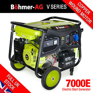 Electric Petrol Generator 9.5KW /11.5kVA Key Start Portable Power - 7000K Bohmer