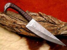 Mittelalter Damast Messer, Gürtel Messer, handgeschmiedet CR14D