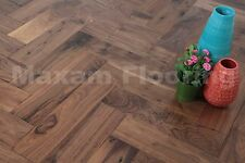 BEST QUALITY!!! Lacquered American Walnut Herringbone Real Wood Flooring HW1802