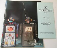 Robot Space Toys Davidson Collection Christie's Auction Catalog 1989 Price Key
