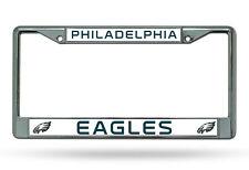 NFL Philadelphia Eagles Chrome License Plate Frame Thin Letters