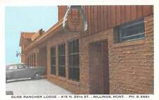 Billings Montana Dude Rancher Lodge Entrance Vintage Postcard K21675