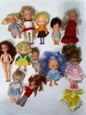 Vtg Mixed Random Small DOLLS Lot 1980s 60s Cherry Merry Muffin Herself the Elf