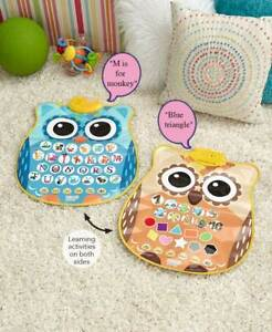 Toddler Double Sided Sound Educational Owl Mat Learning Toy Kids Gifts