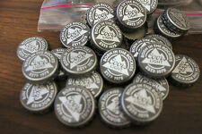 100 COORS LIGHT GREY NEW STYLE MOUNTAIN BEER BOTTLE CAPS NO DENTS FREE SHPG