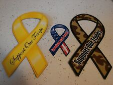 """SUPPORT OUR TROOPS RIBBON MAGNET 8"""" CAR AUTO REFRIGERATOR  NEW  25 total"""