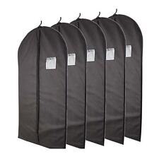 Aftergen 40 Black Garment Bag With Transparent Window Storage Suits Dresses TRA