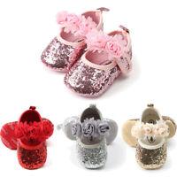 Hot Toddler Girl Crib Shoes Newborn Baby Flower Soft Sole Prewalker Sneakers