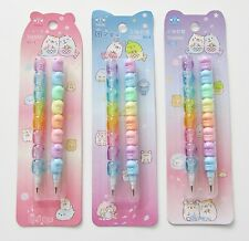 Rainbow hamsters cute kawaii kitsch set of 2 pop off pencils