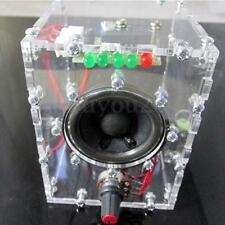 Clear Transparent LM386 Speaker Box Amplifier Kit With Case PC Speaker DIY KIT