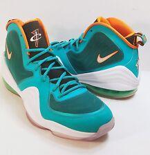 Nike Air Penny V 5 Miami Dolphins Size 13 Green/White/Safety Orange 537331-300