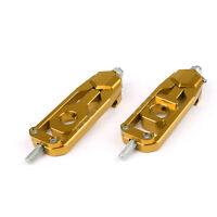 Aluminum Chain Adjusters Tensioners Catena For YAMAHA MT-09 MT09 2013-17 Gold BU