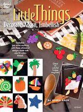Little Things Crochet Patterns Embellishment Fridge Magnets + Annie's Attic NEW
