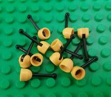 *NEW* Lego Bulk Yellow Base Black Gear Levers Control Sticks Antennas 10 pieces