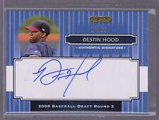 2008 Razor Signature Series Blue #138 Destin Hood Auto 16/25