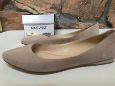 Nine West Women's Speakup Ballet Flat Natual Suede US 8