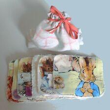 Beatrix Potter 6 LINGETTES LAVABLES COTON BIO pour bébé, enfant