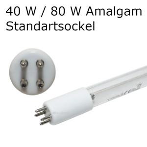 UVC Ersatzröhre Amalgam 40 W / 80 W passend für Aquaforte, Rota, DVS, WAGNER