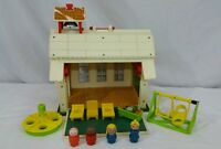 Fisher-Price 923 Play Family School House Little People Lot 11 Pieces Vintage
